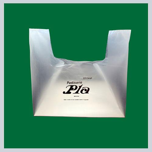 Bolsas plastico asa troquelada personalizadas