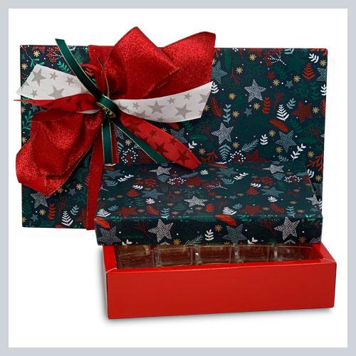 Cajas bombones forradas Mod Navidad
